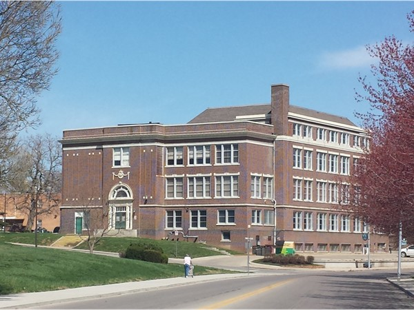 Formerly William Chrisman Junior High School just off the Independence Square