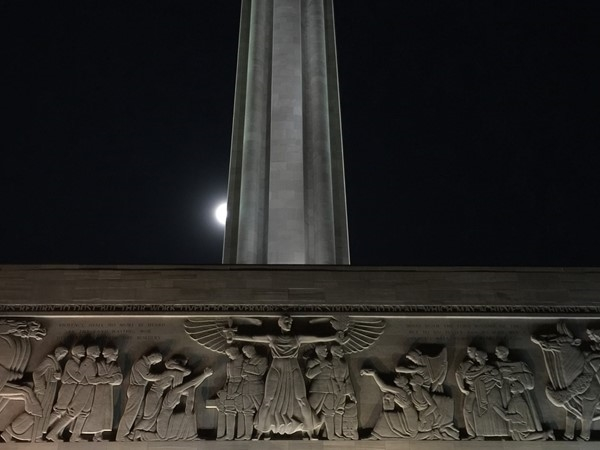 The beautiful Liberty Memorial at night