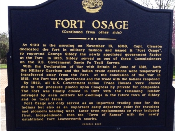 Historic Fort Osage in Sibley, MO
