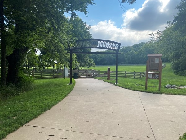 Leawood Dog Park is a beautiful, open space to let your dog play free