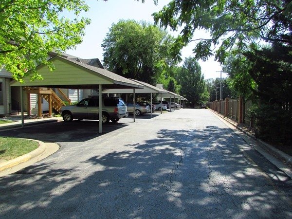 Most units have a carport and all have a reserved parking space. There is ample guest parking too.