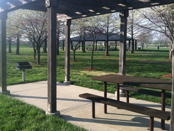 Picnic area at E.H. Young Riverfront Park.