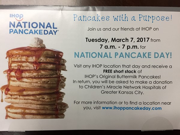 Yes! I love National Pancake Day at IHOP