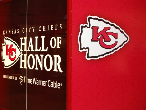 Football fans - Be sure to visit the KC Chiefs Hall of Honor at the stadium