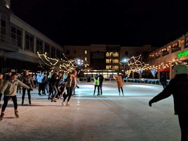Ice skating at Park Place in Leawood is a fun time
