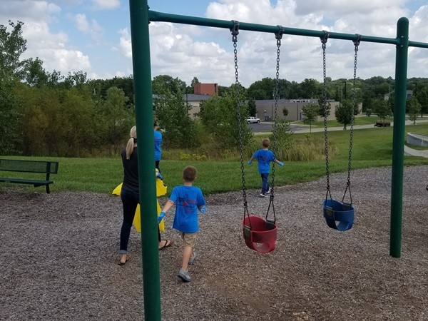 Cleaning up a park, near Summerset Hills Subdivision, in Belton