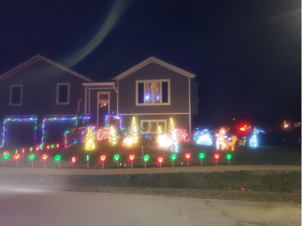 The neighborhood has lots of lights going up. Small town feel with convenience of city