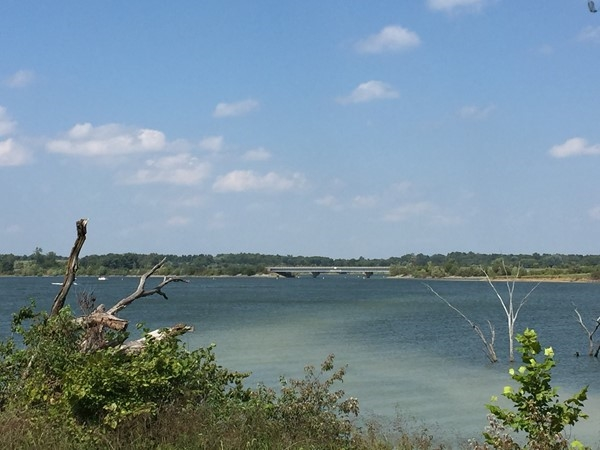 View from walking and bike trail at Smithville Lake