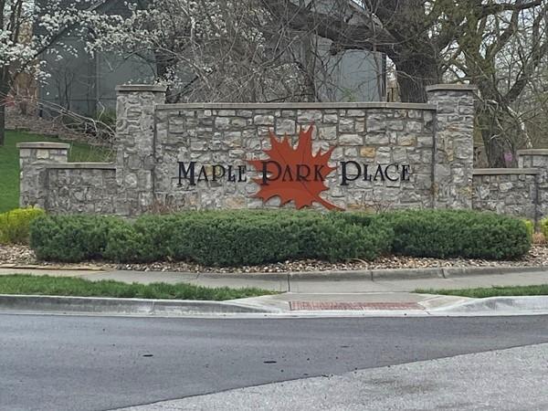 Entrance to Maple Park Place