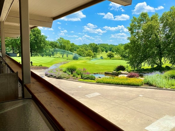 Beautiful golf course view from the clubhouse patio