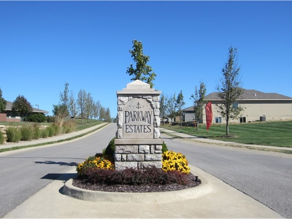 Entrance to the Parkway Estates subdivision