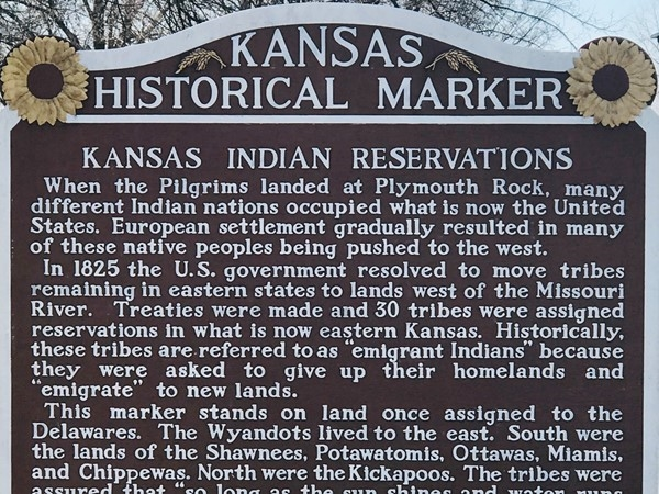 The history of native Indian tribes in Kansas