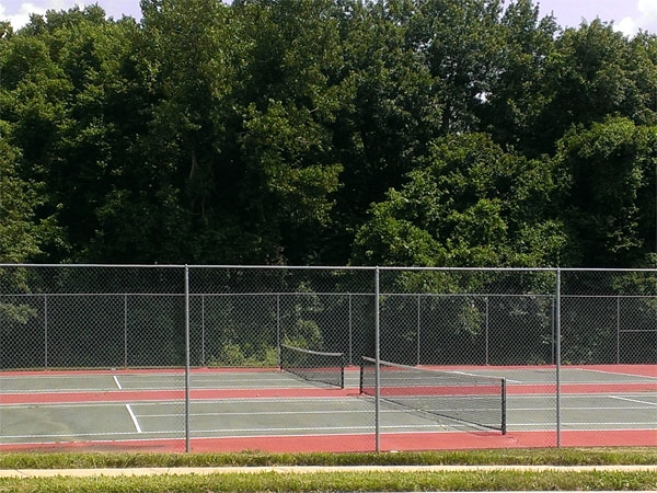 These courts are nicely shaded in the morning and evening