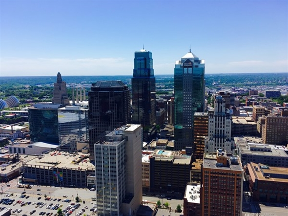 Kansas City from the observation deck on top of City Hall