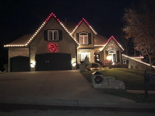 Stunning home all lit up for Christmas
