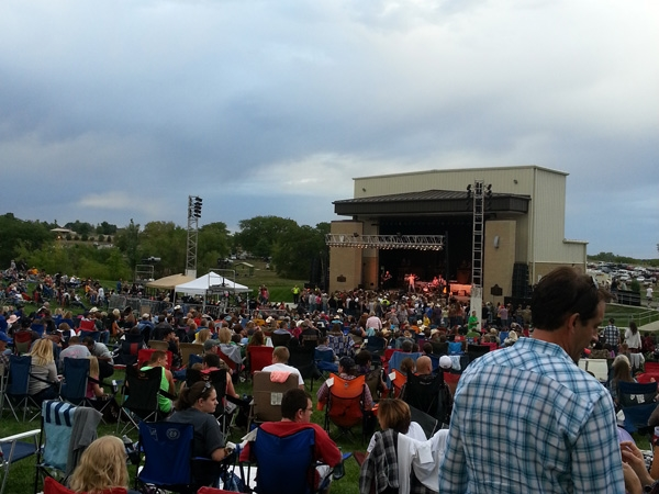 Great Crowd for a Concert at the Amphitheater