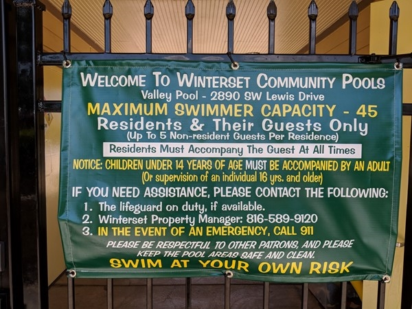 Three pools to choose from in Winterset