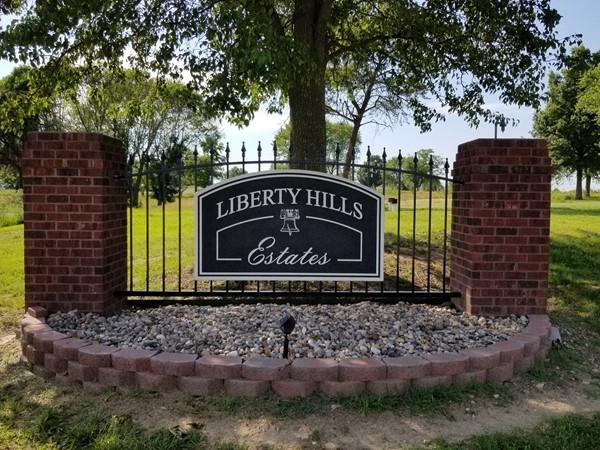 Liberty Hills Estates front signage