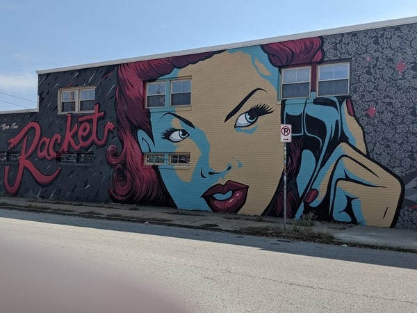 Custom artwork in the Crossroads District