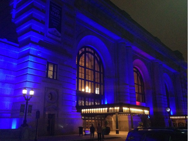 Union Station glows even late at night. My trip was to pick a cousin up at Amtrak