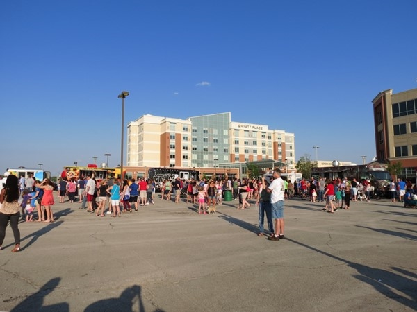 Friday Food Truck Frenzy at Lenexa City Center - a hot, but fun time