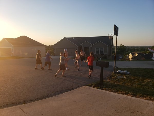 Nothing like a small town pick up game with the neighbors