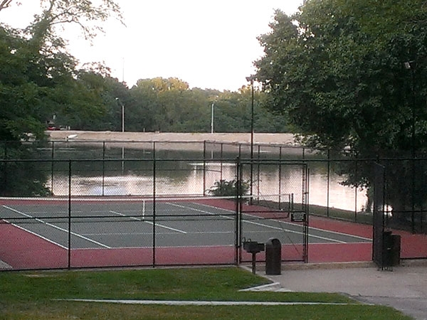Swing Your Racket At Waters Edge And Enjoy A Game Of Tennis