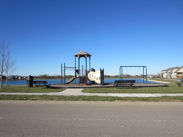 Lakefront playground in Lakeside at Chapman Farms