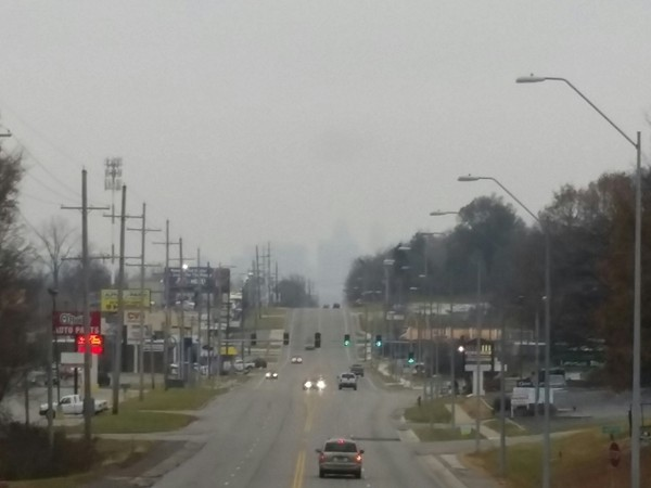 Our downtown is lost in the fog today. Love our city