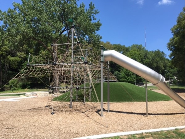 The new playground equipment in Roanoke Park