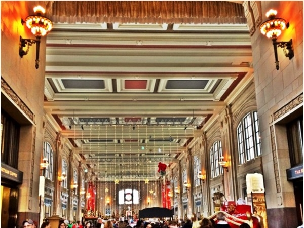 Union Station is a bustling location for festive holiday activities including a visit from Santa