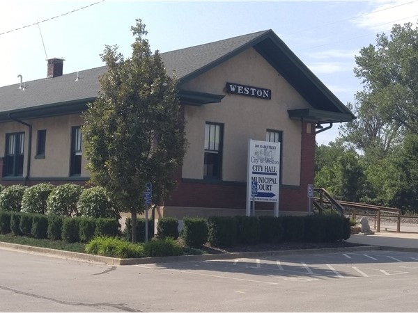 Old train depot re-purposed and is now the city hall