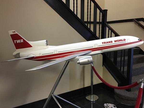Model of airplane at TWA Museum