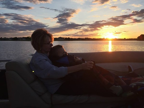 A peaceful night for a pontoon ride at Raintree Lake