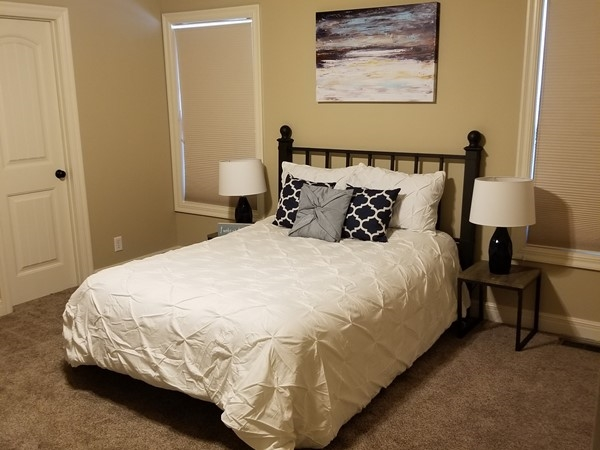 A staged bedroom in Brooks Farms, courtesy of Staging Dreams