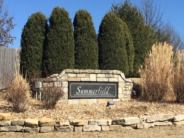 Entrance to beautiful Summerfield