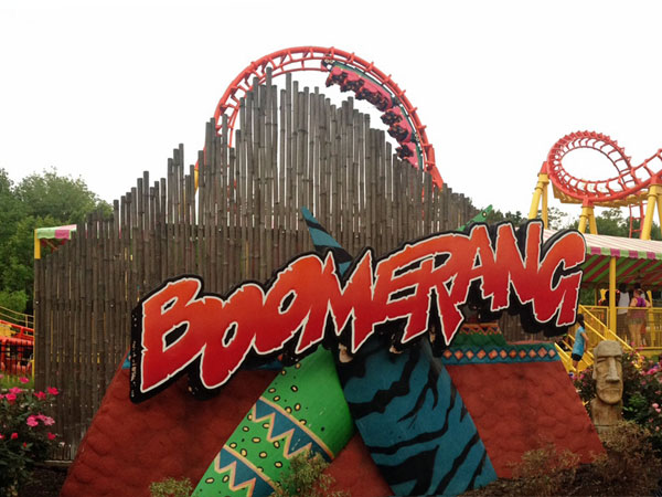 The Boomerang at Worlds of Fun: One of my boys favorite rides