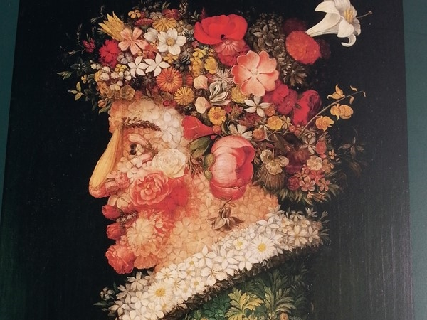 Arcimboldo's painting of Spring on canvas. The inspiration for Philip Haas sculptures