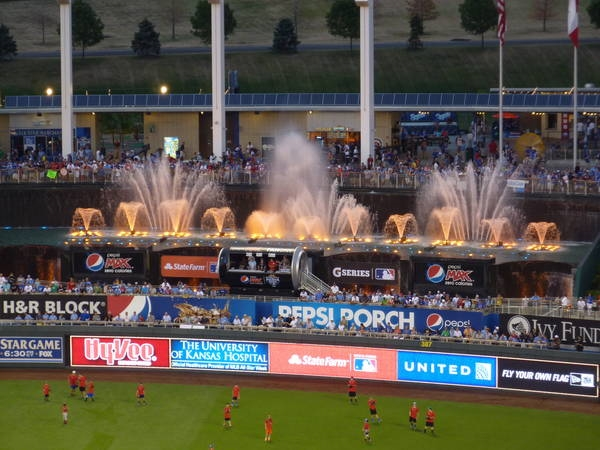 The Fountains at Kauffman Stadium