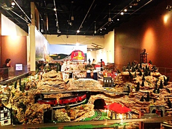 Over 8,000 square feet of model trains are housed inside this free exhibit at Union Station