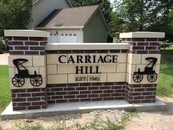 Carriage Hill entrance sign