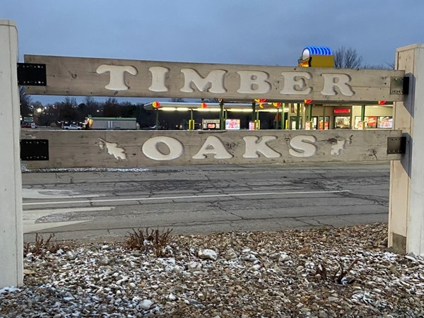 Timber Oaks subdivision entrance