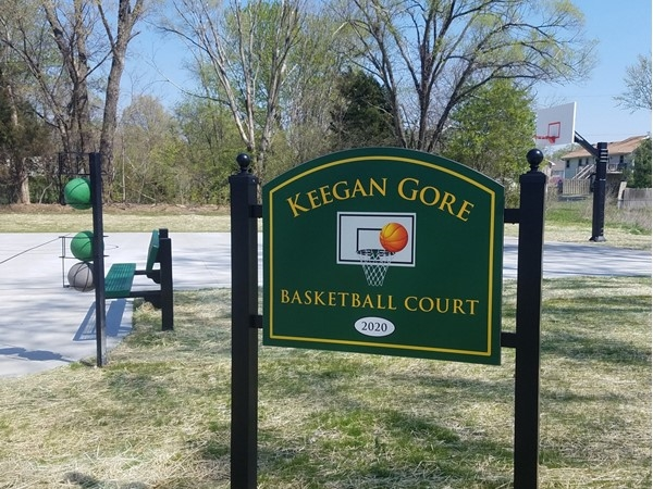 Basehor City Park erects new basketball court named after local youth