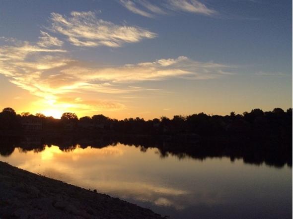 Enjoying the sunset at Lakewood