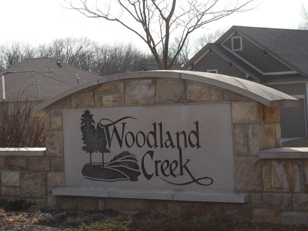 Entryway to Woodland Creek
