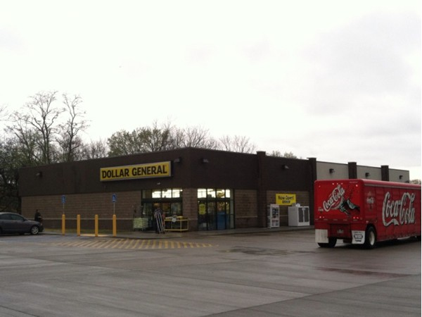Louisburg's new Dollar General ~ much larger than the old one, located on Amity (68 HWY)