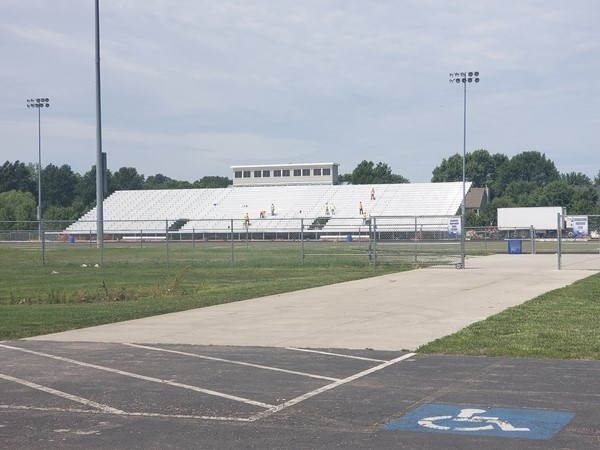 Lots of new stuff going on at our high school. New bleachers and press box going in