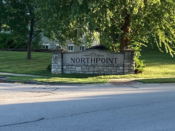 Entrance to the beautiful Northpoint neighborhood in Liberty, Missouri