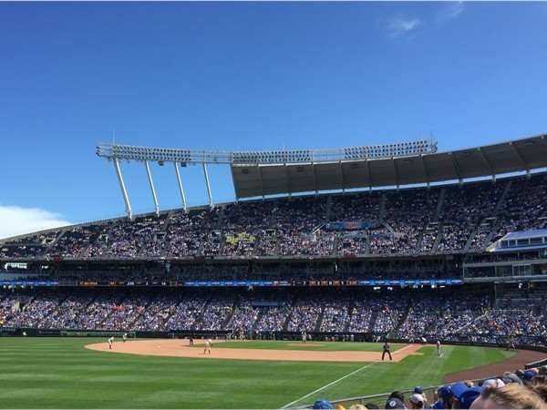 "A gorgeous day to see the Royals at ""The K"""