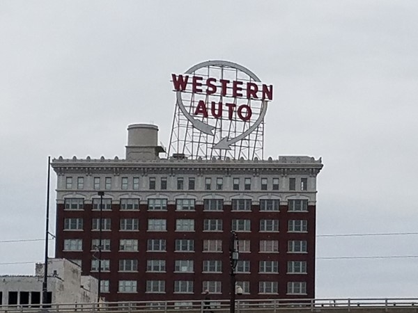 The iconic Western Auto sign located in downtown Kansas City